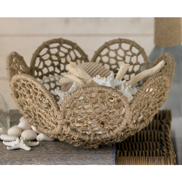 St. Croix Trading Set of 3 Jute Rope Baskets withIron Frames