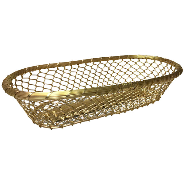 "St. Croix Trading Gilded 17"" Chain-Link Metal Bread Basket"""