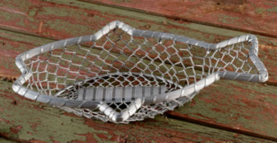 """St. Croix Trading 16"""" Chain-Link Metal Fish Basket"""""""