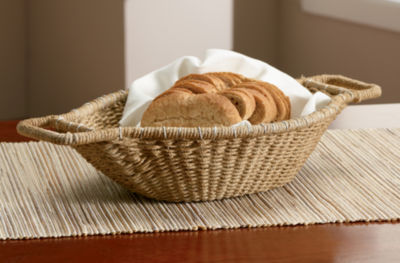"""St. Croix Trading 18"""" Jute Wrapped Oval Basket"""""""