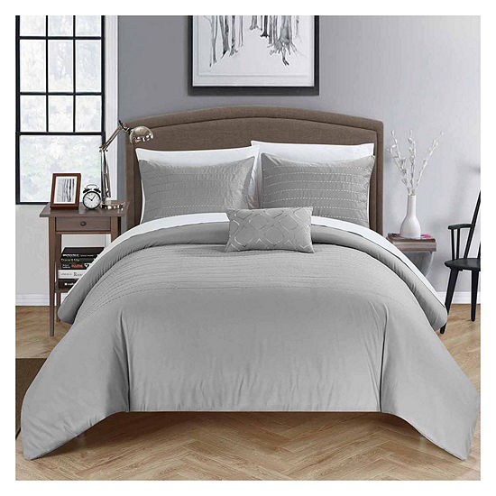 Chic Home Bea Embroidered Duvet Cover Set