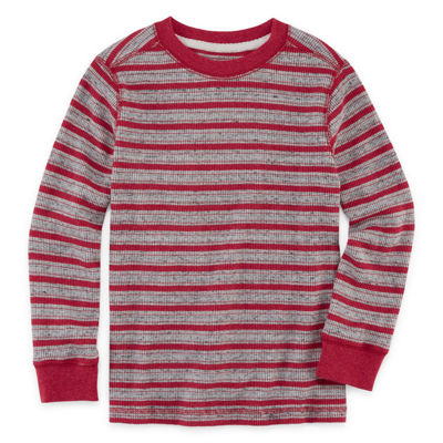 Arizona Long Sleeve Stripe Thermal Top - Preschool Boys