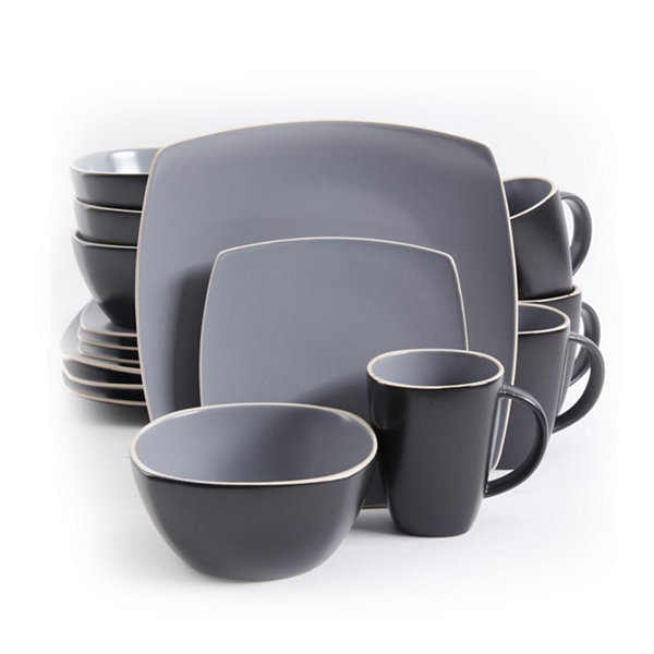 Gibson Soho Lounge Matte 16-pc. Dinnerware Set