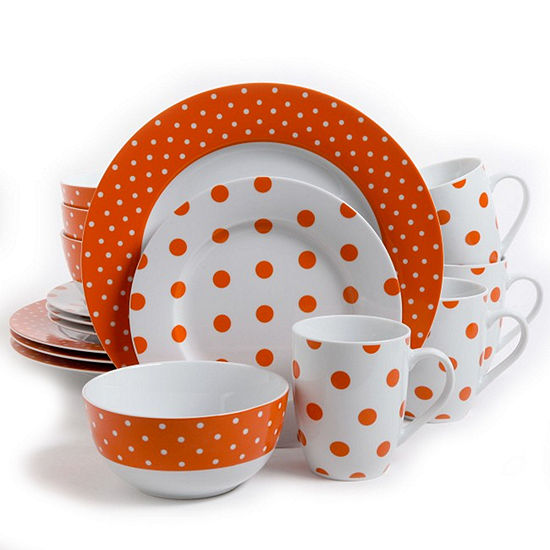 Isaac Mizrahi Dot Luxe 16-pc. Dinnerware Set