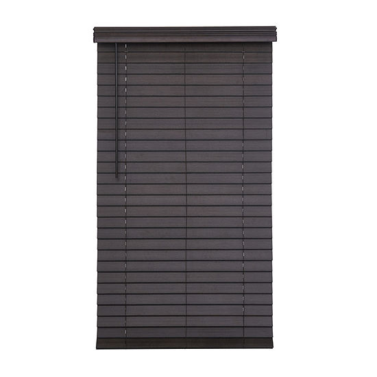 """JCPenney Home Distressed 2 1/2"""" Cut-to-Width Cordless Faux Wood Blinds"""
