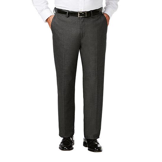 JM Haggar Classic Fit Flat Front Dress Pant-Big and Tall