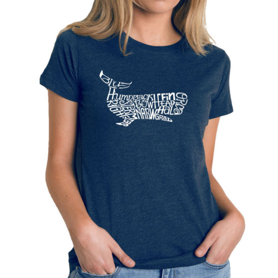 Los Angeles Pop Art Women's Premium Blend Word ArtT-shirt - Humpback Whale
