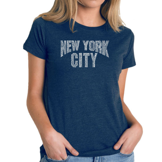Los Angeles Pop Art Women's Premium Blend Word ArtT-shirt - NYC NEIGHBORHOODS