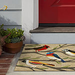 Liora Manne Frontporch Birds Hand Tufted Rectangular Indoor/Outdoor Rugs