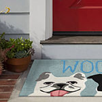 Liora Manne Frontporch Le Woof Hand Tufted Rectangular Indoor/Outdoor Rugs