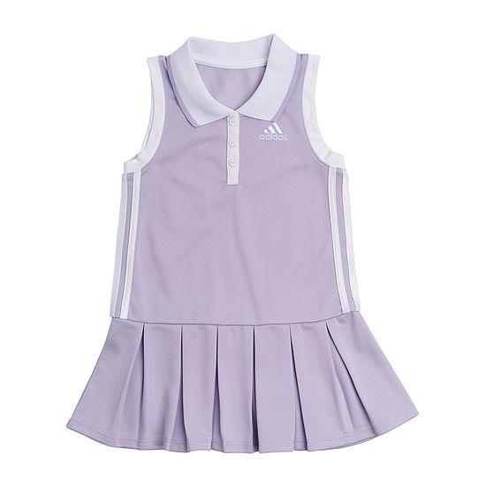 adidas Little Girls Sleeveless T-Shirt Dresses