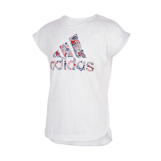 adidas Little Girls Short Sleeve T-Shirt