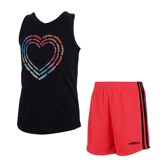 adidas Little Girls 2-pc. Short Set