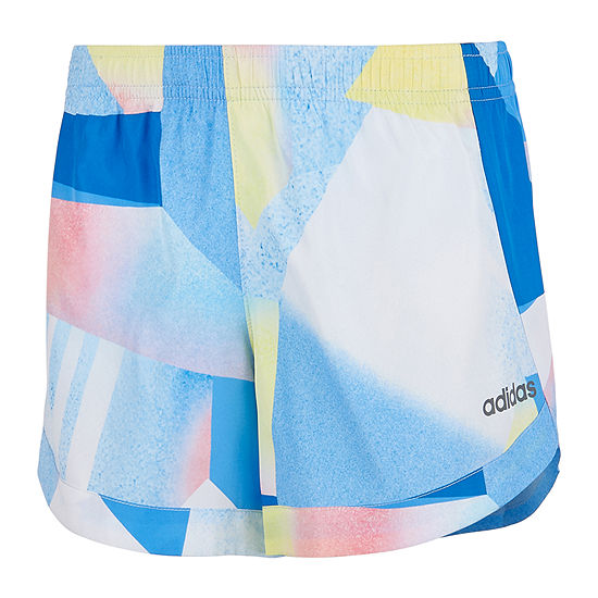 adidas Little Girls Mid Rise Workout Shorts
