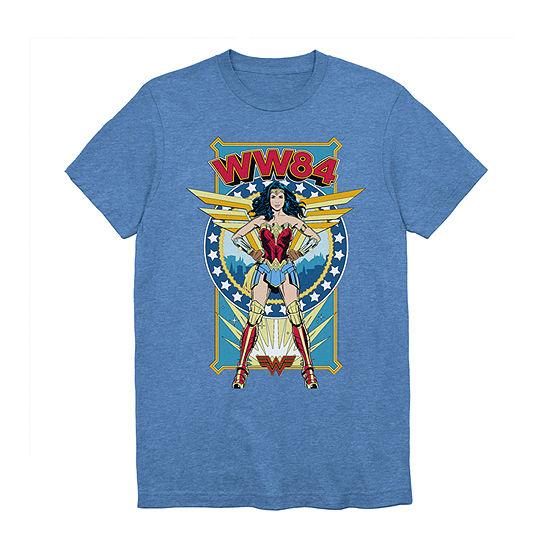 Mens Crew Neck Short Sleeve Wonder Woman Graphic T-Shirt