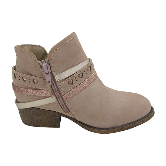 Pop Girls Karmela Block Heel Booties