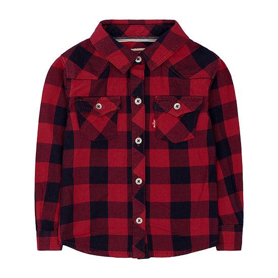 Levi's Baby Girls Long Sleeve Button-Down Shirt
