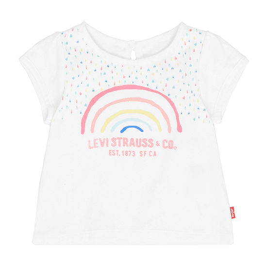 Levi's Baby Girls Short Sleeve Embellished T-Shirt