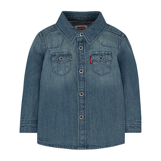 Levi's Baby Boys Long Sleeve Button-Down Shirt