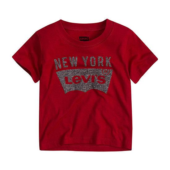 Levi's Baby Boys Crew Neck Short Sleeve Graphic T-Shirt