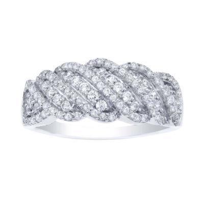 ¾ CT. T.W. Diamond Sterling Silver Twist Ring
