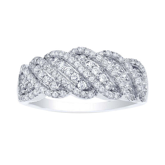 Ct Tw Diamond Sterling Silver Twist Ring