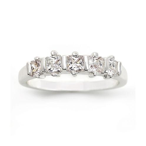 city x city® Cubic Zirconia 5-Stone Band Ring
