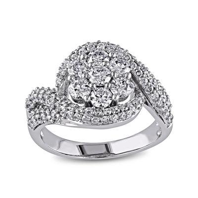 2 CT. T.W. Diamond 14K White Gold Bridal Ring