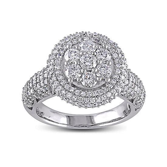 2 CT. T.W. Diamond 10K White Gold Bridal Ring
