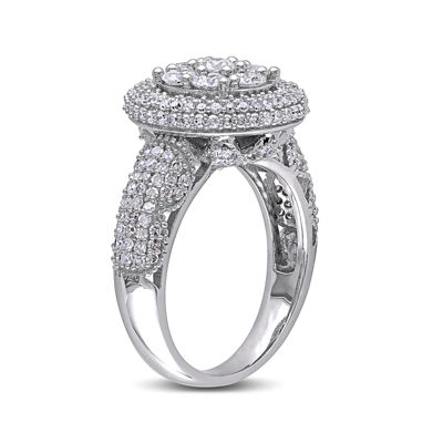 2 CT. T.W. Diamond 10K White Gold Bridal Ring