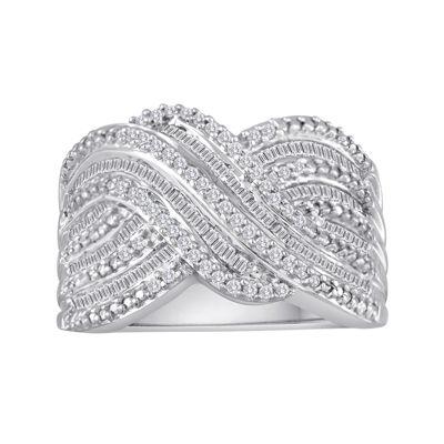 3/4 CT. T.W. Diamond Crisscross Ring
