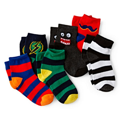 Okie Dokie® 6-pk. Low-Cut Socks - Boys 12m-6