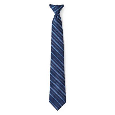Van Heusen Striped Clip-On Tie - Boys One Size
