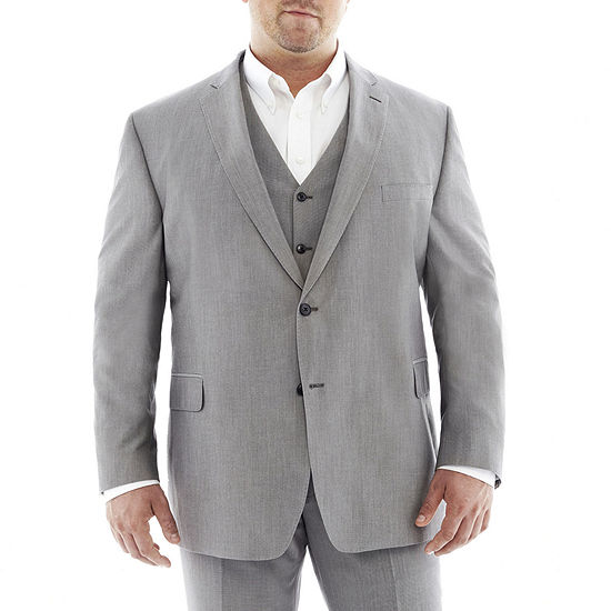 Jf J Ferrar Gray Suit Jacketbig Tall