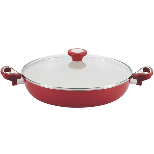 "Farberware® New Traditions 12"" Aluminum Nonstick Covered Deep Skillet"