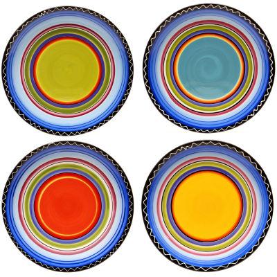 Certified International Tequila Sunrise Set of 4 Dinner Plates