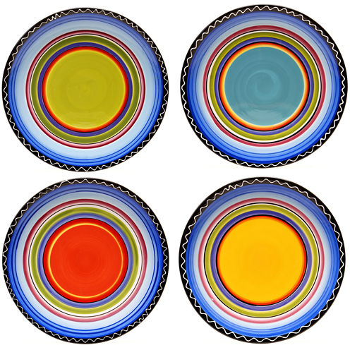 Certified International Tequila Sunrise Set of 4 Dinner Plates