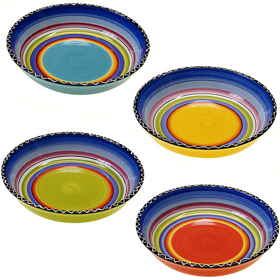 Tequila Sunrise Set of 4 Soup Bowls