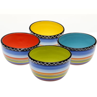 Certified International Tequila Sunrise Set of 4 Ice Cream Bowls