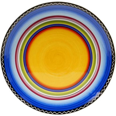 Certified International Tequila Sunrise Round Serving Platter