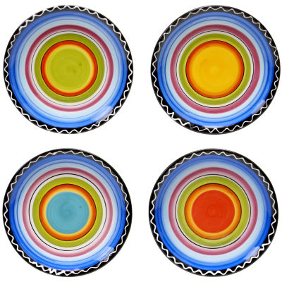 Certified International Tequila Sunrise Set of 4 Canapé Plates