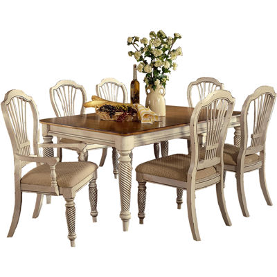 This Review Is FromMeadowbrook 7 Pc Rectangular Dining Set