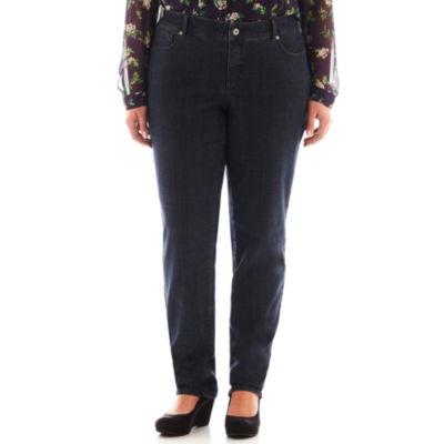 Liz Claiborne® 5-Pocket Slim-Leg Jeans - Plus