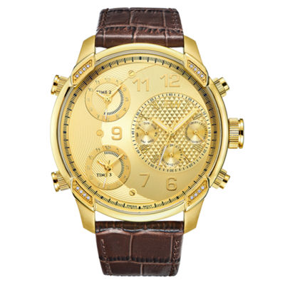 JBW Men's G4 0.16 ctw Diamond 18k gold-plated stainless-steel Watch J6248LR