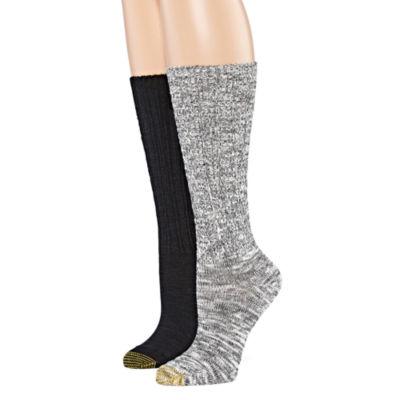 Gold Toe® Womens 2-pk. Boyfriend Slouch Socks