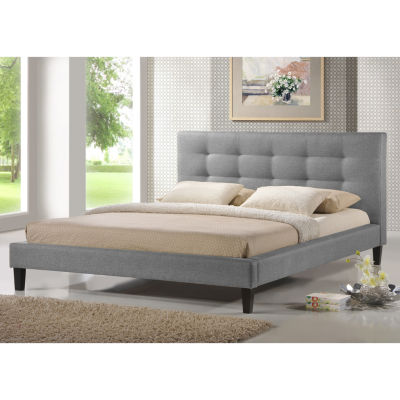 Baxton Studio Quincy Linen Platform Bed