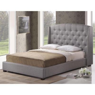 Baxton Studio Ipswich Linen Modern Platform Bed