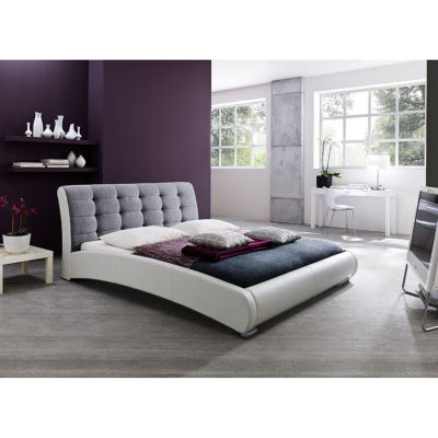 Baxton Studio Guerin Faux-Leather Upholstered Platform Bed