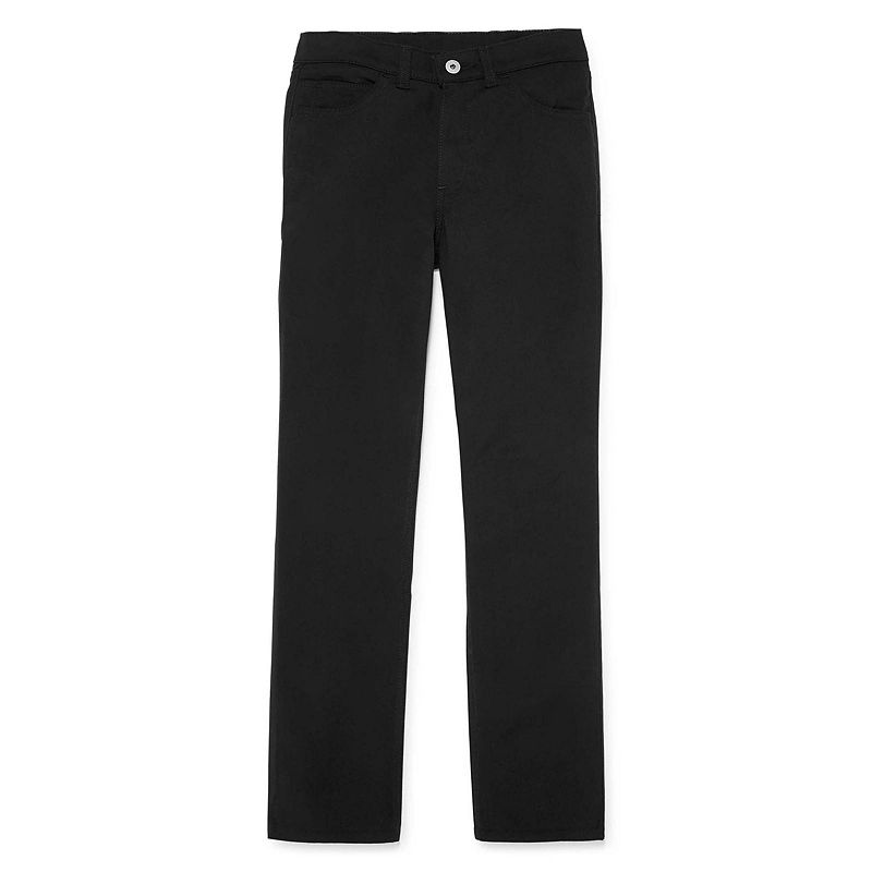 Dickies 5-Pocket Skinny Stretch Twill Pants, Girls, Black, Size 7