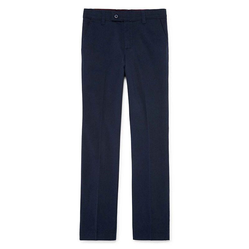 Dickies 5-Pocket Skinny Stretch Twill Uniform Pants, Girls, Size 14, Dark Navy